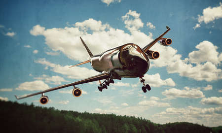 747 landing Stock Photo - 17134210
