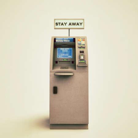 bancomat: atm isolated on white background