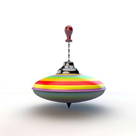 balance rainbow colors: whirligig isolated on white background