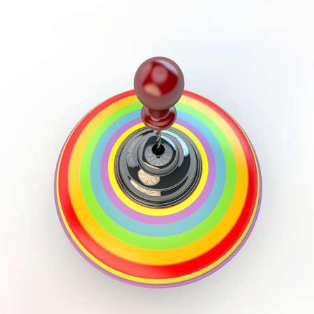 whirligig: whirligig isolated on white background