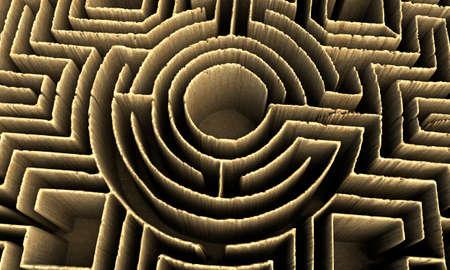 conceptual maze photo