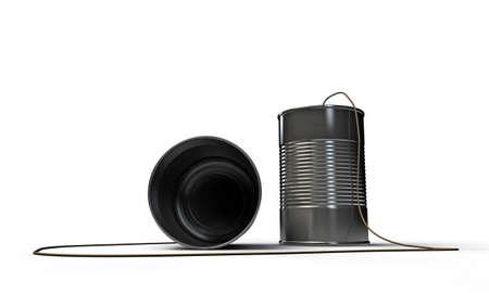 inefficient: basic telephone isolated on white background  Stock Photo