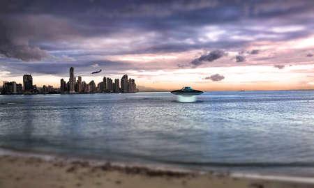 ufo over the sea Stock Photo - 17858306