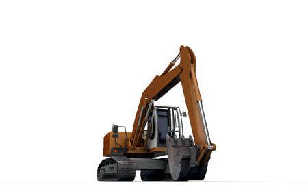 excavator isolated on white background Stock Photo - 18811457