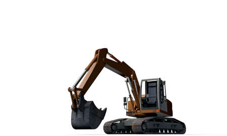 excavator isolated on white background Stock Photo - 18811474
