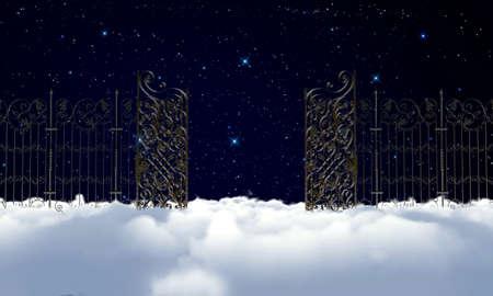 heaven gate at night photo