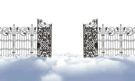 heaven gate isolated on white background photo