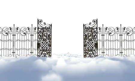 heaven gate isolated on white background Standard-Bild