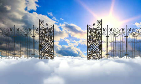 heavens gates: heaven gate Stock Photo