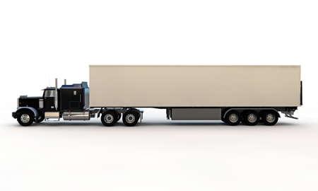 american truck isolated on white background Standard-Bild