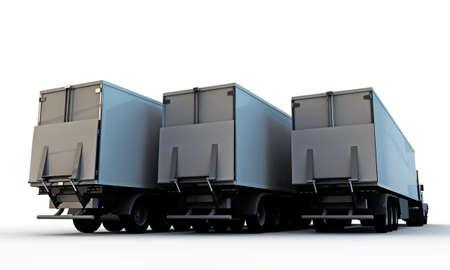 semitrailer: american trucks isolated on white background