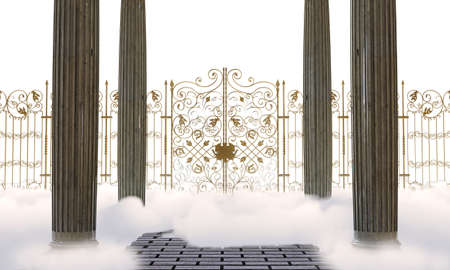 pearly gates: heaven gate Stock Photo