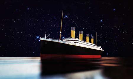 titanic: bateau de croisi�re Banque d'images