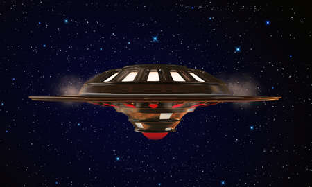 unidentified: unidentified object flying in the sky Stock Photo