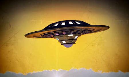 unidentified: objeto volador no identificado en la vieja foto de grunge