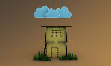 paper house Stock Photo - 19730424