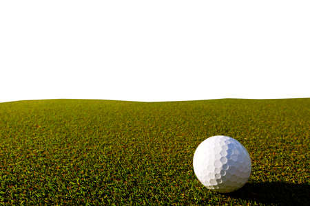 golfe course isolated on white background