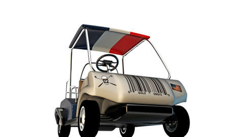 golf cart isolated on white background photo