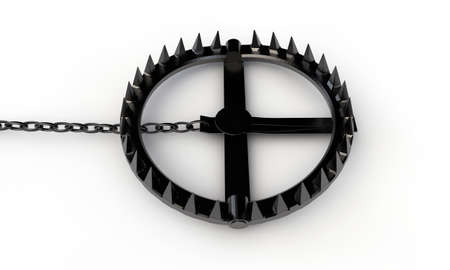 bear trap: bear trap isolated on white background Stock Photo