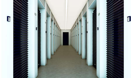 modern self storage with blue dampers photo