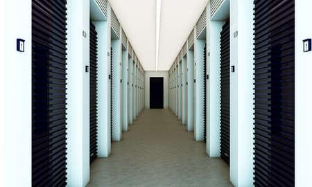 self storage: modern self storage with blue dampers