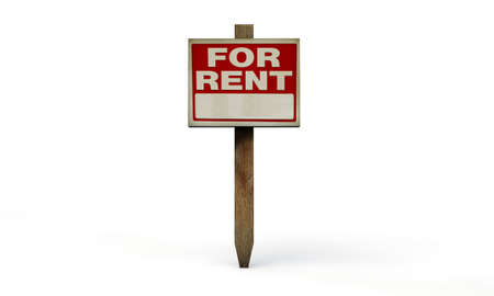 renter: for rent sign isolated on white background