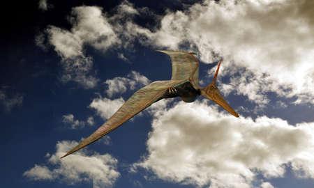 pteranodon: Pteranodon flying in the sky