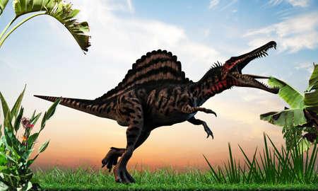 spinosaurus: spinosaurus walking into the wild