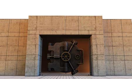 bank vault isolated on white background photo