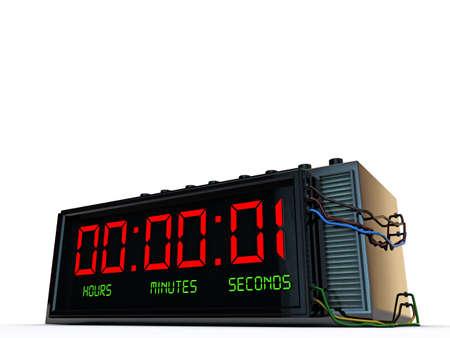 detonator: digital detonator isolated on white