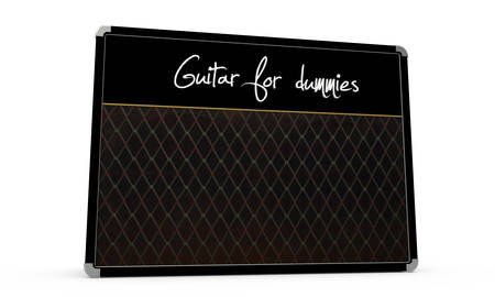 guitar amp isolated on white  photo