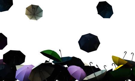 open umbrellas Banco de Imagens