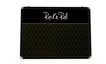 overdrive: guitar amplifier isolated on white background