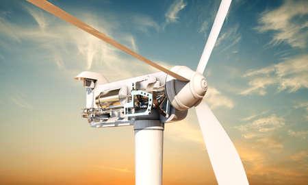 renewable: wind turbine section