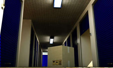 interior of a modern self storage