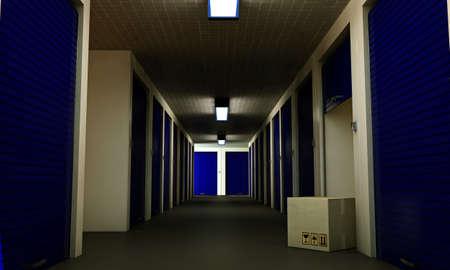 self storage: interior of a modern self storage