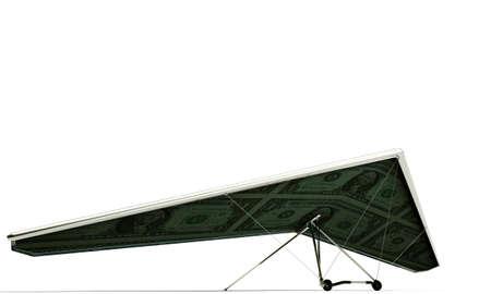 deltaplane isolated on white background