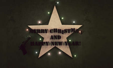 marry christmas and happy new year for military people photo