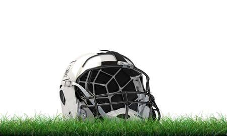 nfl: NFL helmet isolated on green grass