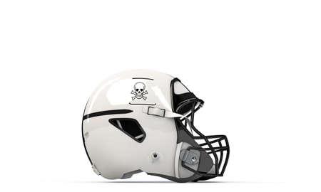 nfl helmet: NFL helmet isolated on white background