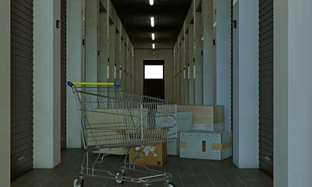 illustration of a modern self storage illustration