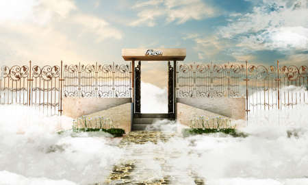 heaven: illustration of the heaven gate