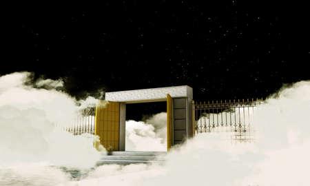 illustration of the heaven gate illustration