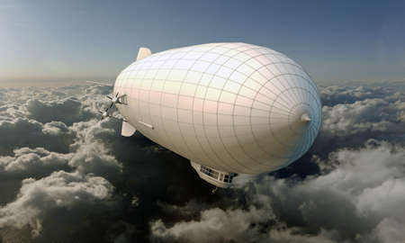 dirigible: airship flying in the sky