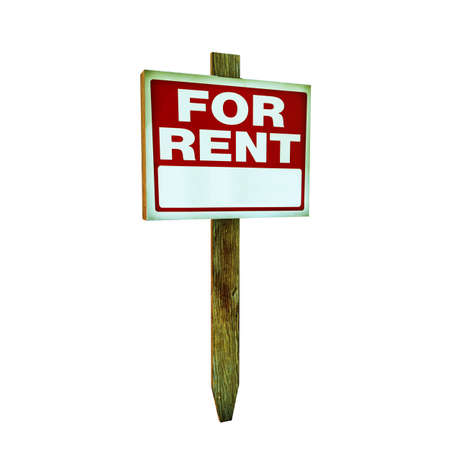 for rent sign: for rent sign isolated on white background
