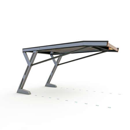 shelter: parking shelter project isolated on white background