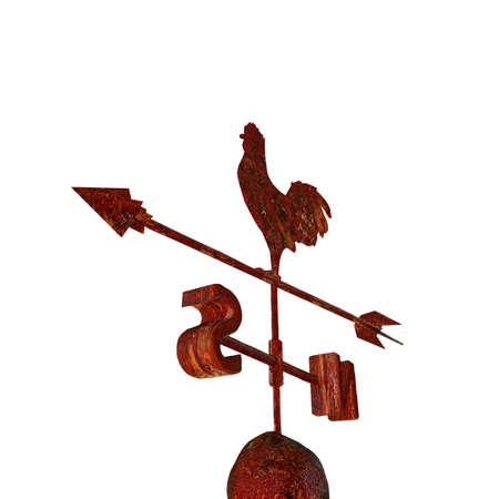illustration of an old weathervane isolated on white background illustration
