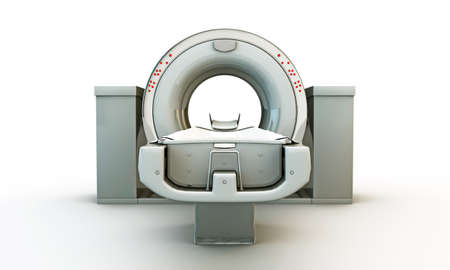 oncology: illustration of the tomography machine Stock Photo
