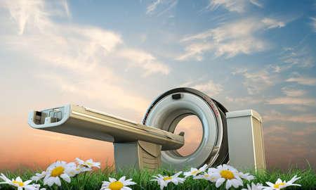 illustration of the tomography machine Zdjęcie Seryjne