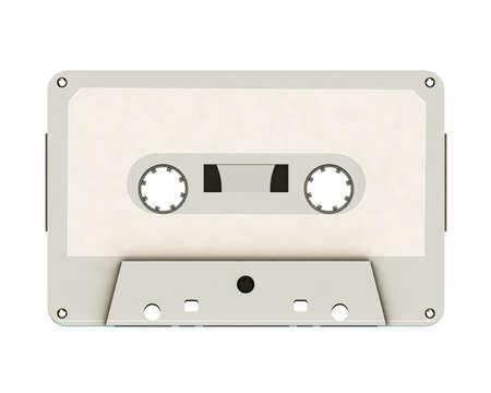 blank cassette tape isolated on white background 版權商用圖片